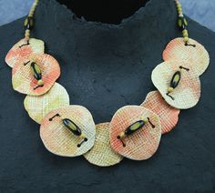 Wafer Necklace by MAUREEN THOMAS | Polymer Clay Planet