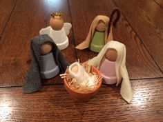 Items similar to Mini Clay Pot Nativity Set - proceeds benefit church youth group on Etsy