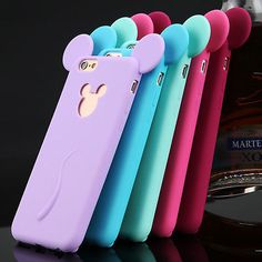 3D Cute Cartoon Soft Silicone Phone Case Cover For Apple iPhone 4S 5S 6 Plus