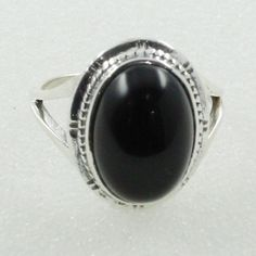 BLACK ONYX STONE PRECIOUS DESIGN 925 STERLING SILVER RING #SilvexImagesIndiaPvtLtd #Statement