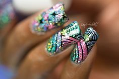Vivid Lacquer stamping plates and Cupcake Polish Unicorn Collection