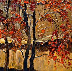 """Saatchi Online Artist: Justyna Kopania; Oil, 2011, Painting """"Autumn..."""""""