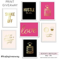 GIVEAWAY Enter to win 5 foil prints!!