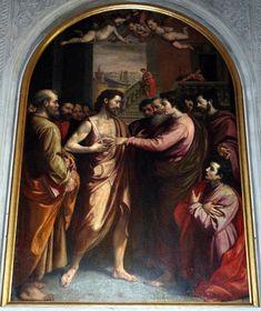 Santi di Tito (1536-1603) - Incredulità di San Tommaso -1576-77 circa - Duomo di Sansepolcro