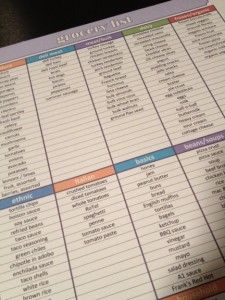 Weekly Meal Planner{Use this worksheet to develop a game plan for the week, so you always have dinner planned and don't resort to pizza or take-out.}Grocery List{Head to the grocery store armed with a list. Research says you'll spend less money if you stick to the list! Just highlight the