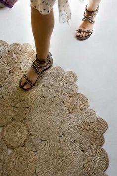 INSPIRÁCIÓK -kreatív lakberendezési magazinblog: KREATÍV szizál szőnyeg: csináld magad!