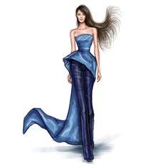 Monique Lhuillier Fashion Illustration
