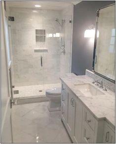 Modern Farmhouse, Rustic Modern, Classic, light and airy master bathroom design ideas. Bathroom makeover ideas and master bathroom remodel suggestions. Bathroom Design Small, Bathroom Layout, Bathroom Interior Design, Small Bathrooms, Master Bathrooms, Bathroom Renos, Dyi Bathroom, Bathroom Designs, Small Master Bathroom Ideas