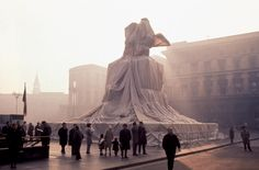 Christo and Jeanne-Claude   Wrapped Monument to Vittorio Emanuele II, Piazza del Duomo, Milano, Italy, 1970