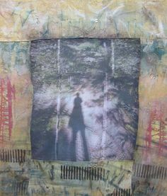 Shadow by Wen Redmond, via Flickr,  Cotton fabric hand dyed, silk-screened and painted