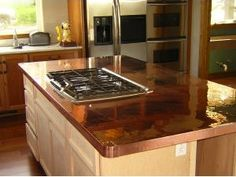 Copper Kitchen Countertops Are One Of The Choices You Have For A Metal Countertop These Are Typically Custom Crafted Onsite