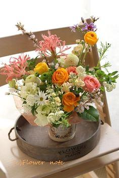 【今日の贈花】99歳♪お誕生日おめでとう Flower note の 花日記 (横浜・上大岡 アレンジメント教室)