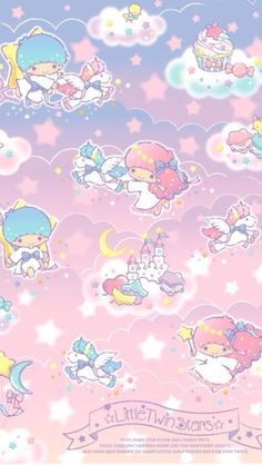 New design promotion of Little twin stars in the aurora fantasy world. Enjoy your days in the fantasy world with Kiki and Lala in this summer! My Melody Wallpaper, Sanrio Wallpaper, Star Wallpaper, Kawaii Wallpaper, Disney Wallpaper, Little Twin Stars, Little Star, Little Pony, Roblox Animation