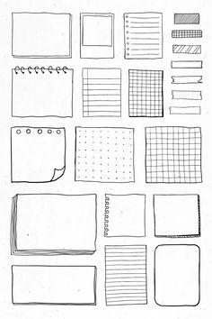 Bullet Journal School, Bullet Journal Boxes, Bullet Journal Banner, Bullet Journal Writing, Bullet Journal Aesthetic, Bullet Journal Ideas Pages, Bullet Journal Inspiration, Book Journal, Bullet Journal Vectors
