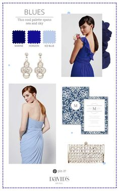 Cool blue tones for your bridal party. Pick your favorite or mix and match!