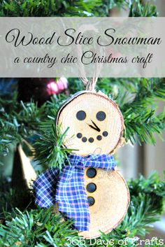 Country Chic Christmas Ornament
