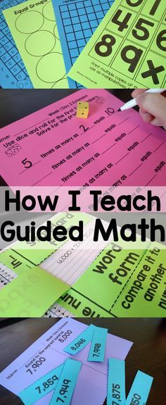 Setting Up Guided Math 2nd, 3rd, 4th, groups, centers