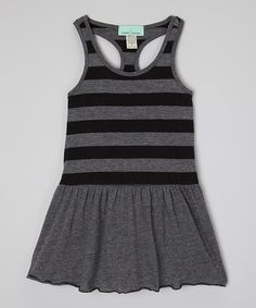 Another great find on #zulily! Heather Black Racerback Tank Dress - Infant, Toddler & Girls by mini scraps #zulilyfinds