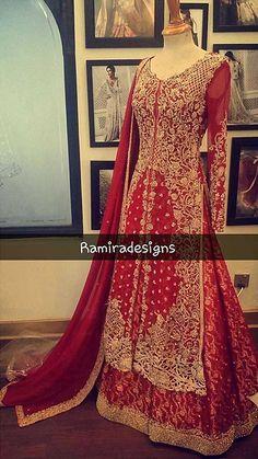 @shabistoronto A Perfect Red Lehanga by @ramiradesigns