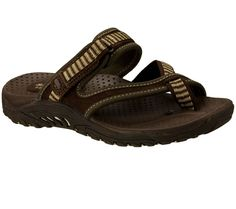 Beach style and comfort is in the SKECHERS Reggae-Rasta sandal. Soft nubuck and web fabric upper cross strap thong sandal with an adjustable slide strap for added comfort.
