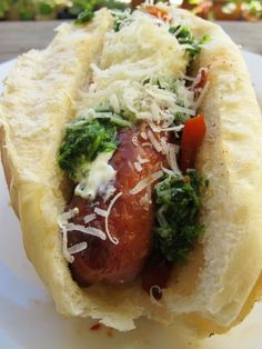 Argentina: Choripán. The hot dog of Argentina, choripán is a portmanteau of chorizo and pan: spicy sausage and bread. Add chimichurri sauce.