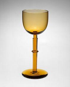 Wine goblet Josef Hoffmann (Austrian, Pirnitz 1870–1956 Vienna) Manufacturer: J. & L. Lobmeyr, Vienna, Austria Date: ca. 1910