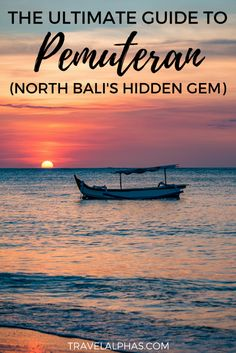 If you're traveling to Bali soon, then there's a secret you need to hear! On the North Coast of Bali Bali Travel Guide, Asia Travel, Travel Guides, Gili Island, Destination Voyage, North Coast, Best Hikes, Fishing Villages, Beach Trip