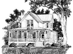 Aiken Ridge from The Southern Living (HWBDO55421) | Farmhouse House Plan from BuilderHousePlans.com