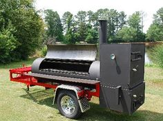 Mobile BBQ Pit / Smoker - would love to see this in my back yard