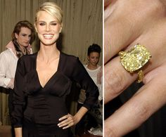 Heidi Klum    Seal proposed to Heidi Klum with an 8.5-carat diamond in December 2004 on a glacier in Whistler, BC.