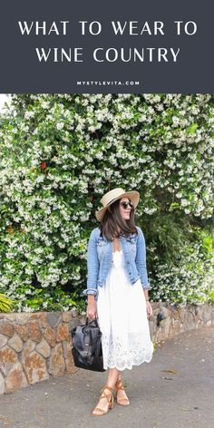 Napa wine country outfit ideas, what to wear on a wine tour - My Style Vita @mystylevita #napa #travelguide #outfit