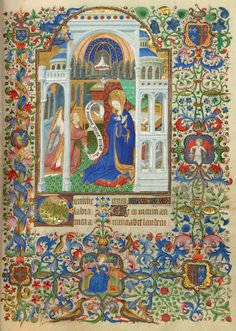 Book of Hours - Medieval & Renaissance Manuscripts Online - The Morgan Library & Museum Fine Art, Medieval Art, Book Of Kells, Renaissance Art, Illustrated Manuscript, Painting, Illuminated Manuscript, Art, Art History