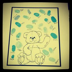 Drew this for a friends baby shower- teddy bear themed