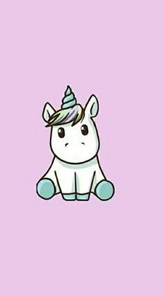 Un lindo Wallpaper de un unicornio