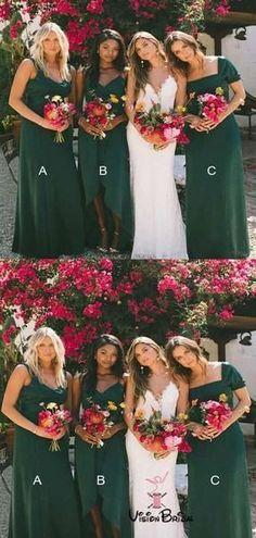 Mismatched Hunter Green Long Bridesmaid Dresses, Simple Bridesmaid Dresses, VB01398 #bridesmaid #bridesmaiddresses #bridesmaiddresses2018 Cheap Bridesmaid Dresses Online, Mismatched Bridesmaid Dresses, Cheap Homecoming Dresses, Wedding Bridesmaid Dresses, Wedding Party Dresses, Emerald Green Bridesmaid Dresses, Green Bridesmaids, Forrest Green Bridesmaid Dresses, Cheap Dresses