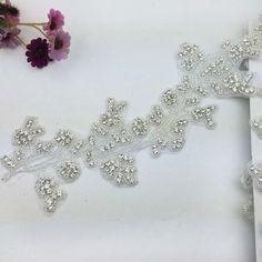 Flower Rhinestone Trims,New Custom Exquisite Bridal Sash,8.0cm Width x10 yards