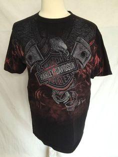 Lot Of 4 Harley-Davidson Sz XL Mens Tshirt Wyoming Texas Pennsylvania Quebec  | eBay