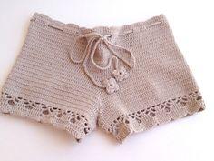 beige short Beach shorts summer shorts NATURAL by senoAccessory