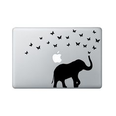 Elephant & Butterflies Macbook Decal  by StephenEdwardGraphic, $12.00