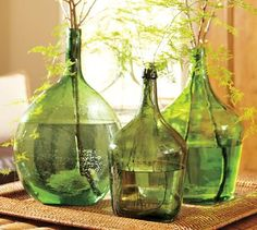 vintage glass bottles.