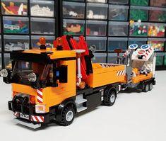 Lego Technic Truck, Lego Truck, Lego City Sets, Lego Sets, Lego Tractor, Lego Pictures, Lego Vehicles, Lego Construction, Lego Design