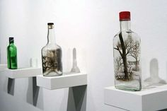Bottled Soot Art - Jim Dingilian Creates Landscape Masterpieces in Glass Containers (GALLERY)