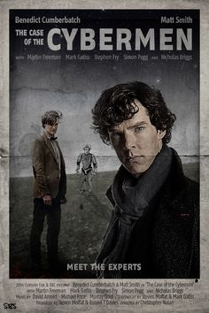 """""""The Case of the Cybermen"""" - A Sherlock/Doctor Who Mashup. I'd see it"""