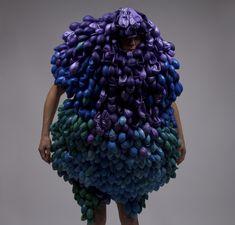 Lucy McRae and Bart Hess...reminds me of that purple blob character for McDonalds #Grimace ftw!