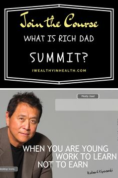 he Rich Dad Summit is a web-based financial empowerment conference created by Robert Kiyosaki and Anik Singal, and was officially released in Anik Singal, Best Business Ideas, Rich Dad Poor Dad, When You Were Young, Robert Kiyosaki, Global Economy, Online Work, Starting A Business, Teaching