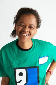 """Meet LaToya. LaToya works on assembly jobs for companies like Destination Maternity. Her favorite thing about working at Goodwill: """"Everything. My paycheck and the people. It makes me happy to come to work every day."""" #GoodwillProud"""
