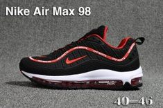 dc5f2fad338 Mens Nike Air Max 98 QS KPU Black Red White 640744 063 Athletic Sneakers  Running Shoes
