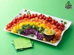 rainbow vegetables, rainbow veggi, rainbow vegetable tray