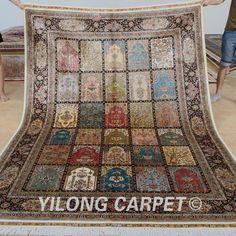 Yilong 6'x9' Kashmiri four season carpets vantage handmade persian garden design rug (0724)
