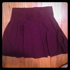 H & M skirt! Only wore once! Burgundy skater style skirt from H & M! Only wore once, just doesn't fit me right. H&M Skirts